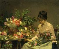 Gilbert Victor Gabriel  the flower seller1878