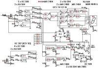 Schema logické sondy pro zjišťování úrovně logiky na pinech čítacích integrovaných obvodů