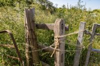 Gatepost with String