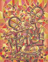 The Drummer and the Flutist III