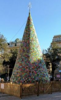 christmas tree in genova, italy