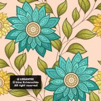 Floral pattern f1_23-5 (simple)