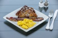 King's Hawaiian French Toast with bacon and eggs for Patsquire