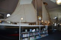 ...the library in Provincetown has a SHIP inside!