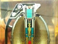 Inside of a frag grenade