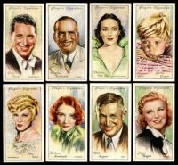 Player's cigarettes film stars cards, 1934