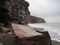 Sandstone Cliffs at Fleswick Bay, Cumbria, UK