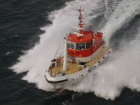 Pilot boat near Tromso Norway