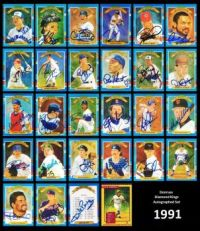 1991 Donruss Diamond Kings Autographed set