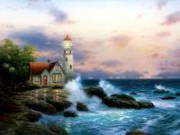 Seaside and lighthouse