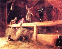 In the Hayloft by Eastman Johnson