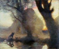 Dusk,  George Clausen (1852–1944)  Laing Art Gallery