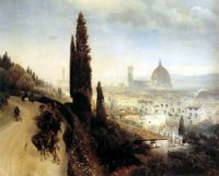 View of Florence, 1883 by Oswald Achenbach