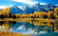 Autumn landscape in Grand Teton National Park, Wyoming