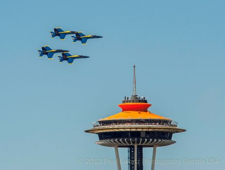 Blue Angels Practice by Paul Swortz
