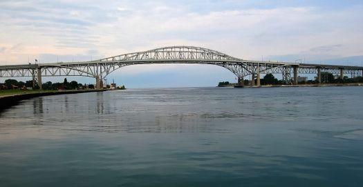 Blue water bridge, Port Huron MI