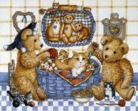 Teddies and kittens