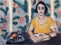 Henri Matisse (French, 1869–1954), Woman Reading with Peaches (1923)