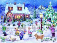 Snowman Celebration by Randy Wollenmann