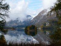 Swiss mountain lake near St. Moritz