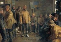 "Michael Peter Ancher, ""In the Grocery Store on a Winter Day when there is no Fishing"", 1890"