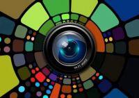 Colourful lens