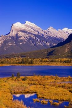 Vermilion Lakes And Mount Rundle In Banff National Park