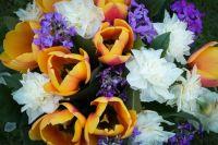 Bouquet with Orange Tulips