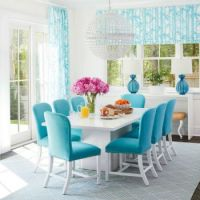 Blue and White Dinning