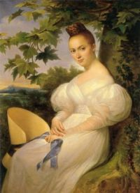 Merry-Joseph Blondel Portrait of a Woman seated beneath a Tree 1830