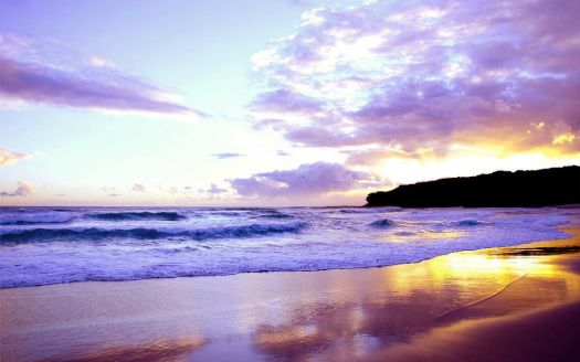 Purple Beach Sunset 061514