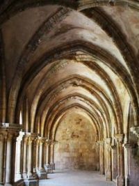 Cloister at Coimbra Cathedral, Portugal
