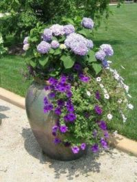 Colorful  White and Violet Container.