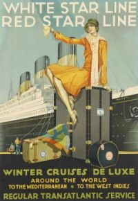 Themes Vintage Travel Poster - Winter Cruises De Luxe