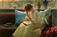 Franz Dvorak (1862–1927), Thoughtful Reader