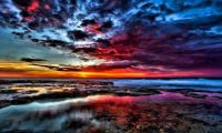 1 ~ 'Multi Coloured Sunset from Ashore'