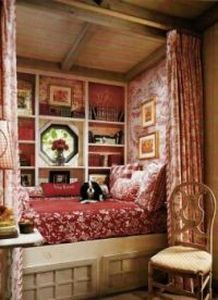 Neat nook for a bed...and a pet!
