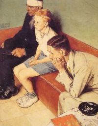 Norman Rockwell - The waiting room