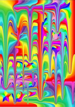 Rainbow Paint Dripping