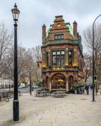 Victorian building in a European city