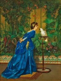 Lady with a Parrot
