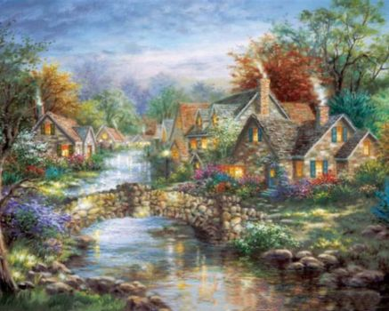 Village On The Stream~Nickey Boehme