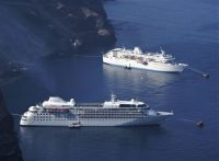 SILVER WIND and THE CALYPSO at Santorini