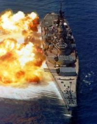 USS Iowa Broadside