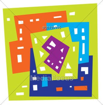 abstract city art