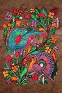 Panachage de plumes et d'oiseaux
