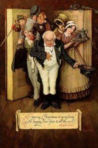 Rockwell Dickinson Christmas characters