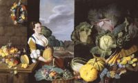 Nathaniel Bacon (British, 1585–1627), Cookmaid with Still Life of Vegetables and Fruit (ca1620–1605)