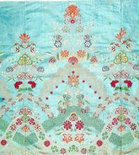 Silk Skirt Panel, English, c. 1720