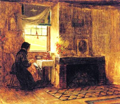 Interior of Farm House, Maine by Eastman Johnson